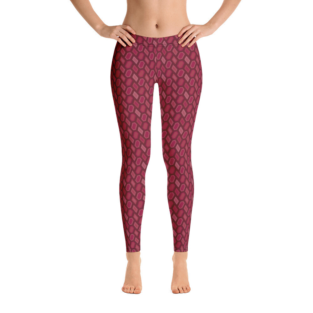Stylish Red Full Printed Leggings