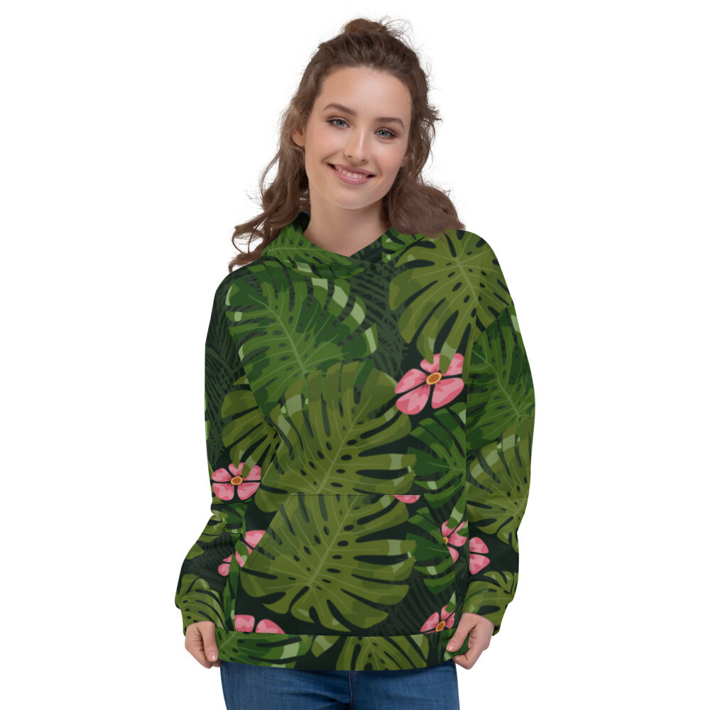Tropical leaves Modern Printed Unisex Hoodie