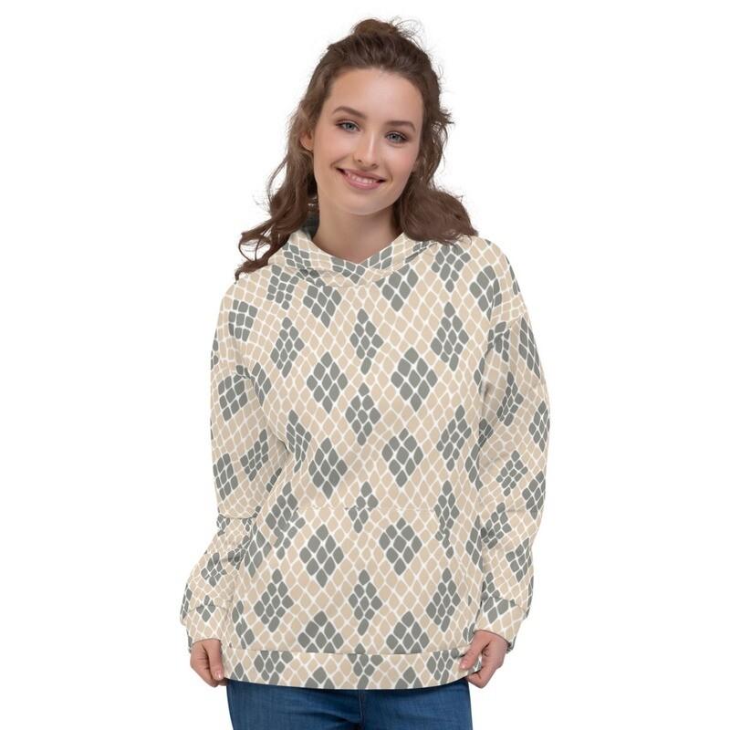 Snake Printed Sweatshirt Pullover Unisex Hoodie