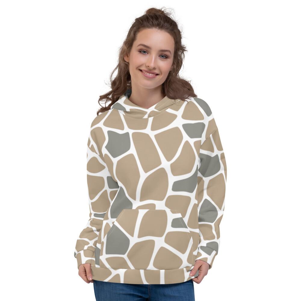 Animal Skin Full Print Pullover Sweatshirt Modern Unisex Hoodie