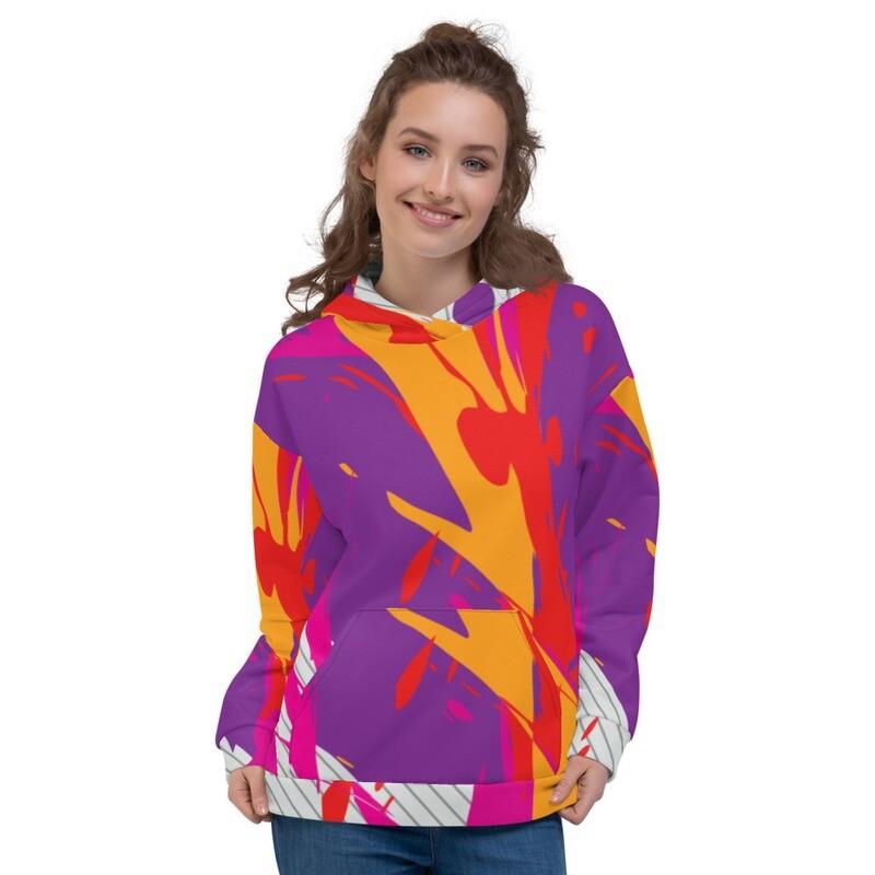 Splash Colour Pullover Unisex Hoodie