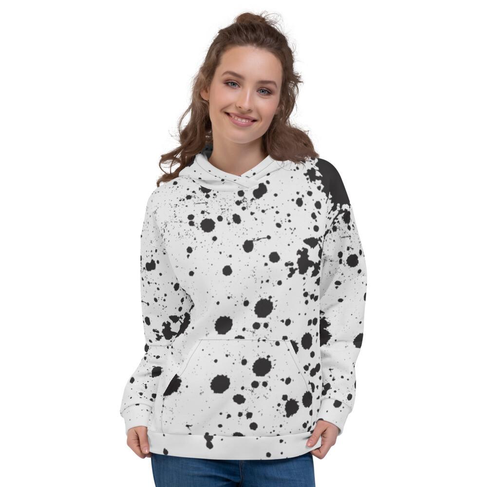 Ink Splatter Pullover Unisex Hoodie
