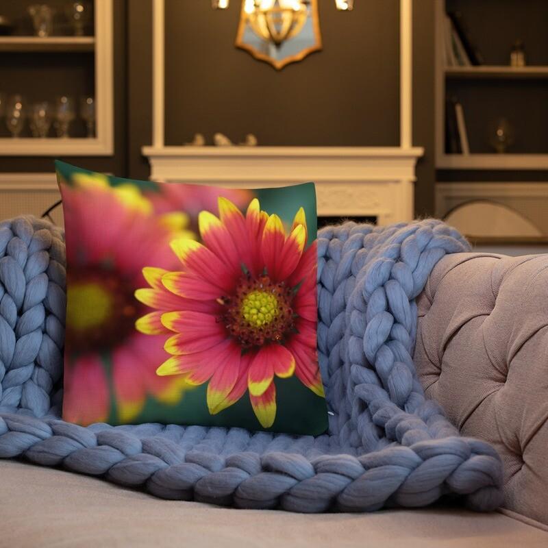 Fl full Printed Throw Premium Pillow