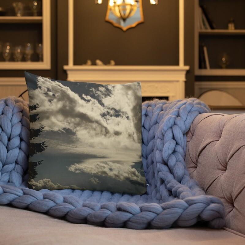 Cloud Full Printed Throw Premium Pillow