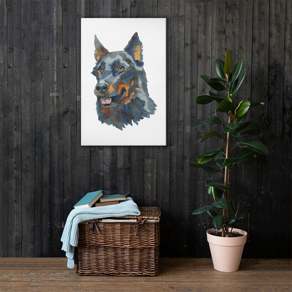 Dog 1 Printed Premium Canvas