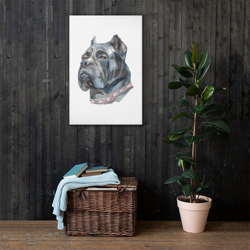 Dog 2 Full Printed Canvas