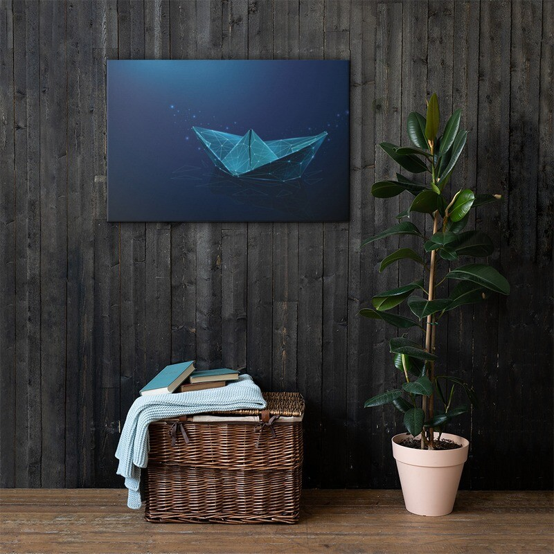 Paper Ship Classic Canvas Print