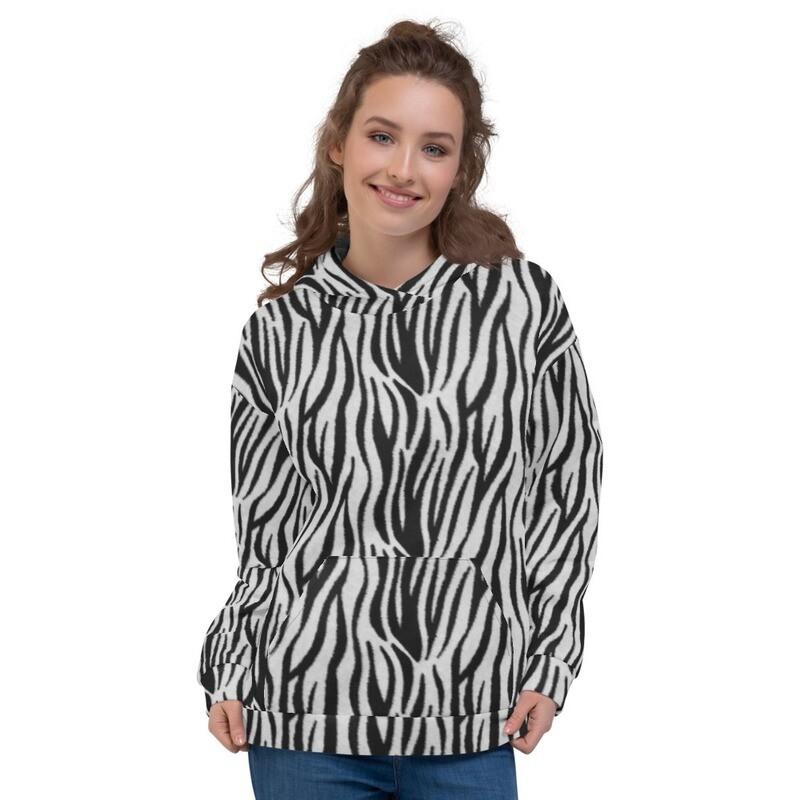 Zebra skin full printed Unisex Hoodie