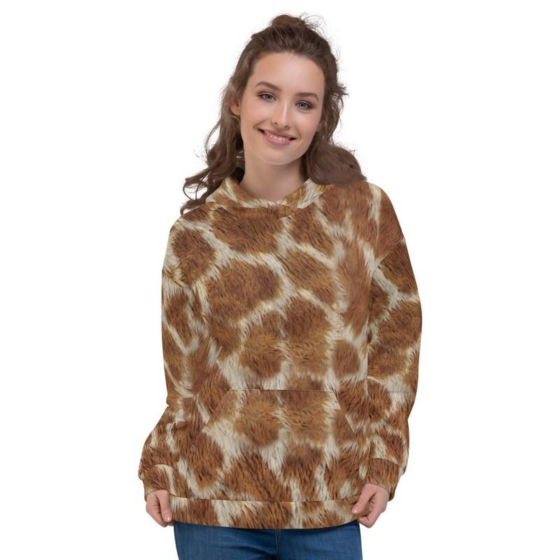 Jaraf Fur Look Printed Unisex Hoodie