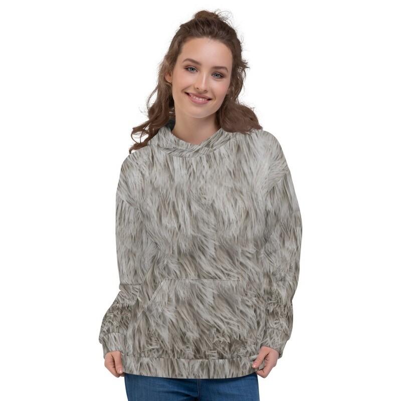 White Bear Fur Printed Unisex Hoodie