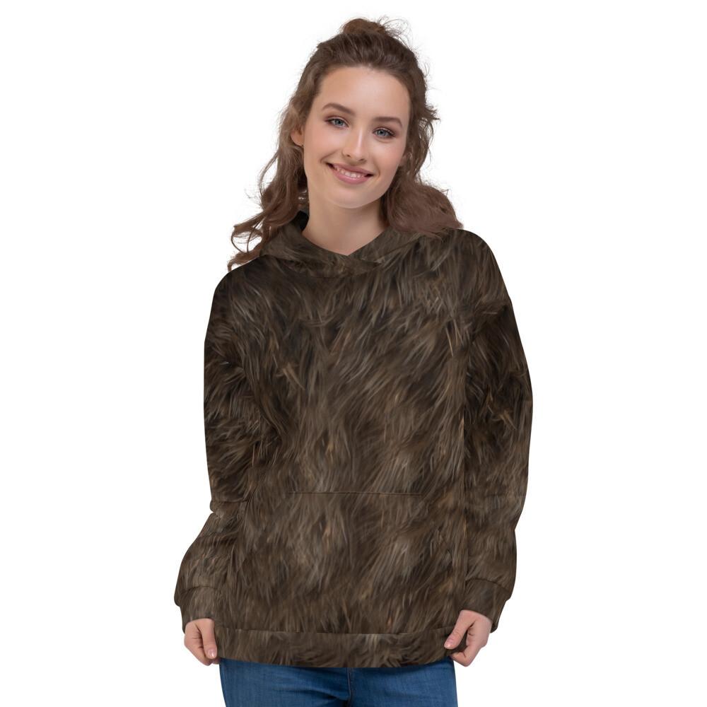 Big Bear Fur Printed Unisex Hoodie