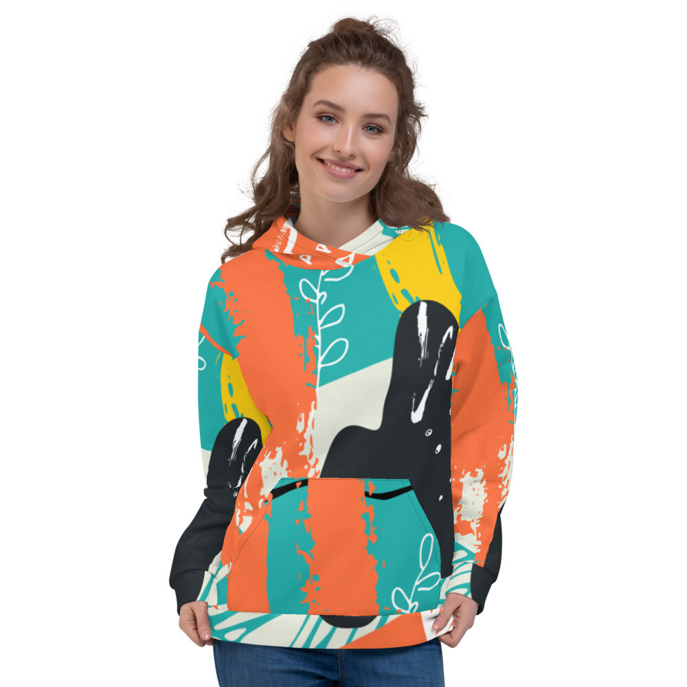 Abstract Full Printed Unisex Hoodie