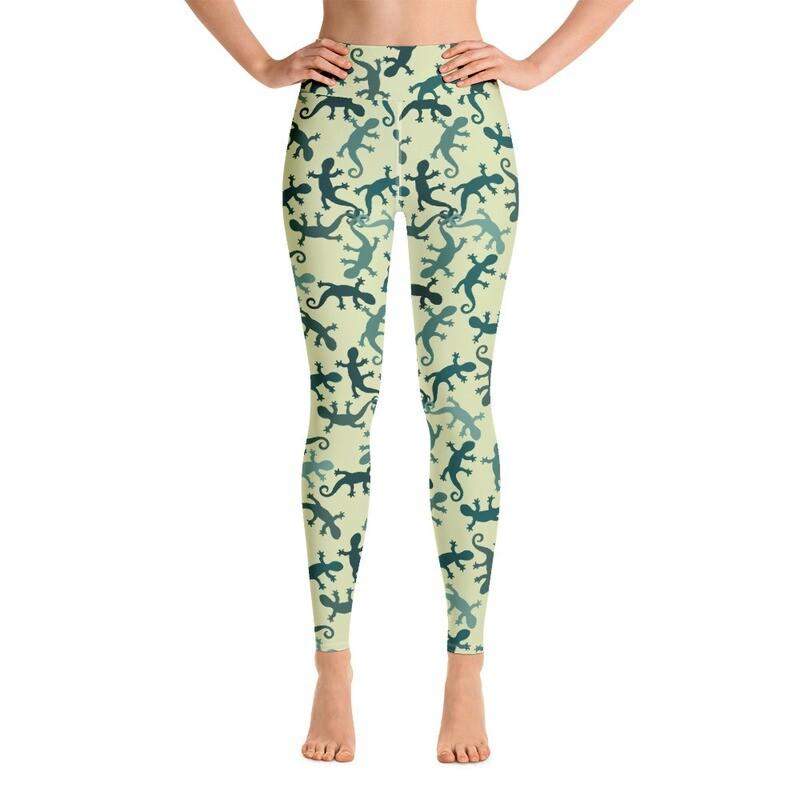 Creepy Lizard Full Printed Women's Yoga Leggings
