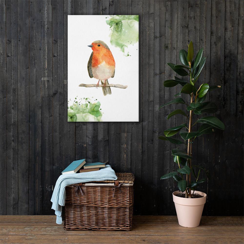 Bid Watercolour Printed Canvas
