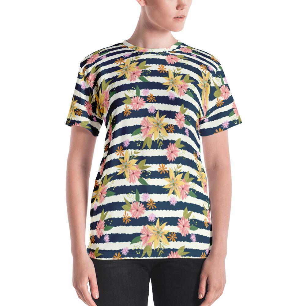 Full Printed Casual Women's T-shirt