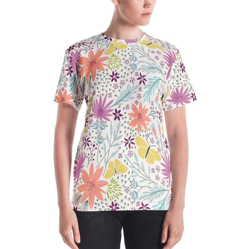 Fall full printed Women's T-shirt