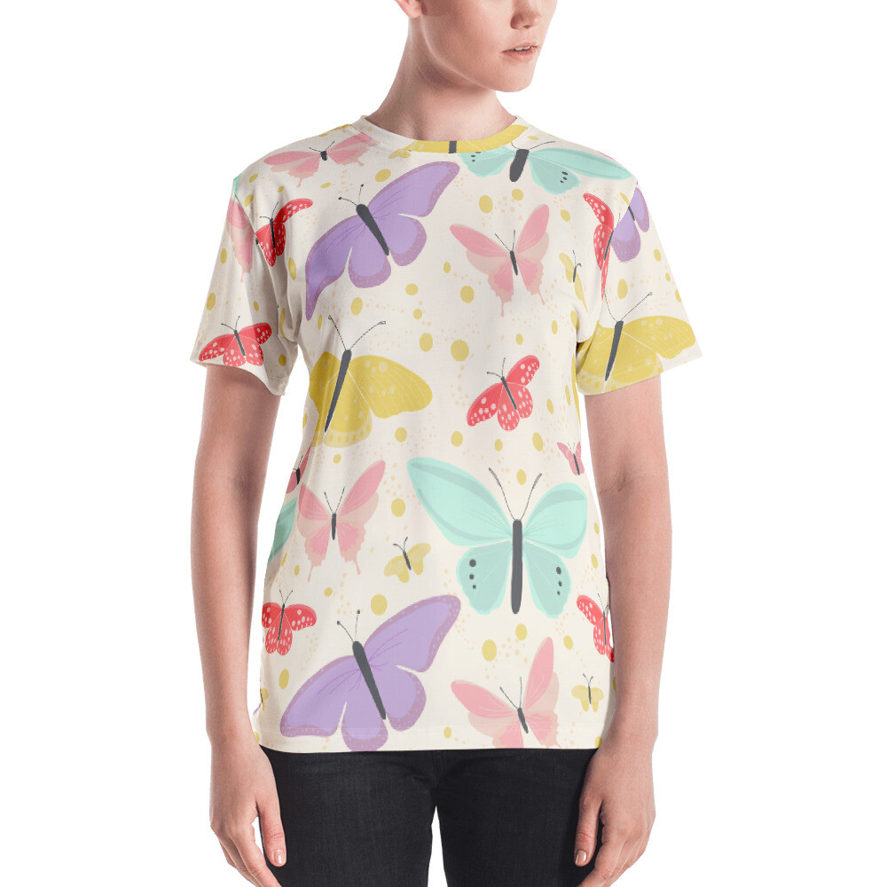 Butterfly Full Printed Women's T-shirt