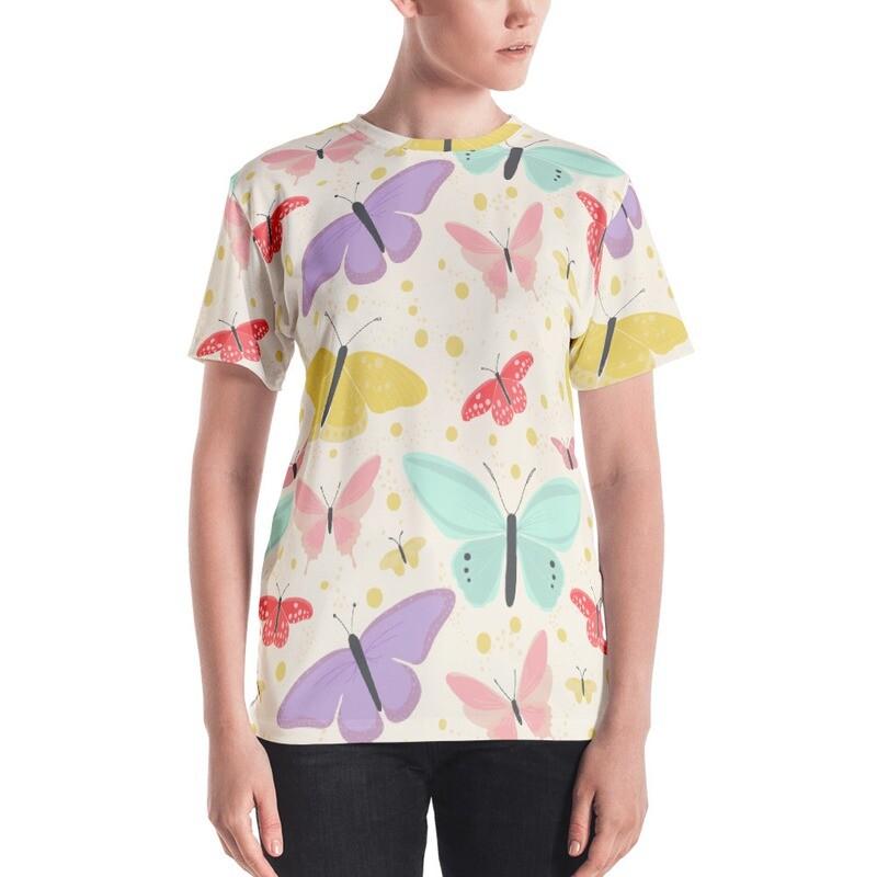Butterfly Full Printed Women's T-shirt