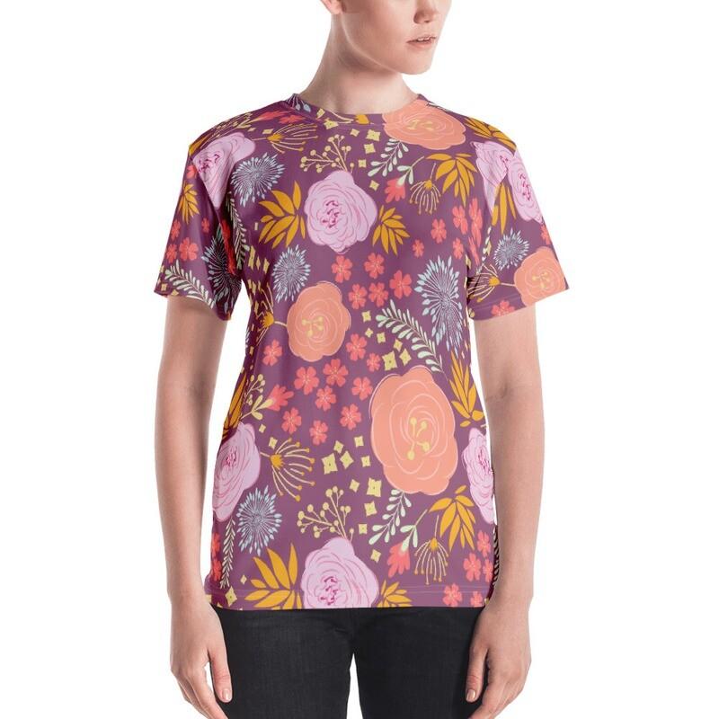 Floral Full Printed Women's T-shirt
