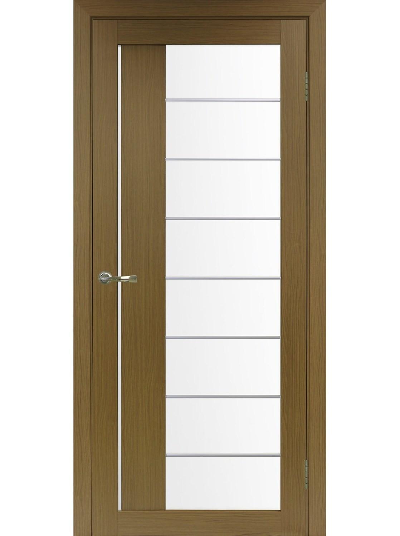 """Дверь эко-шпон """"Оптима Порте 524 асс"""" остекленная"""