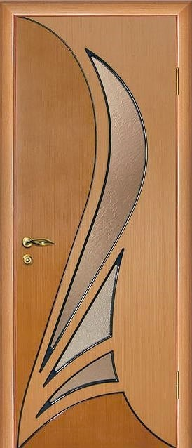"""Дверь шпонированная """"Мадрид"""" шпон дуба остекленная, Мариам"""