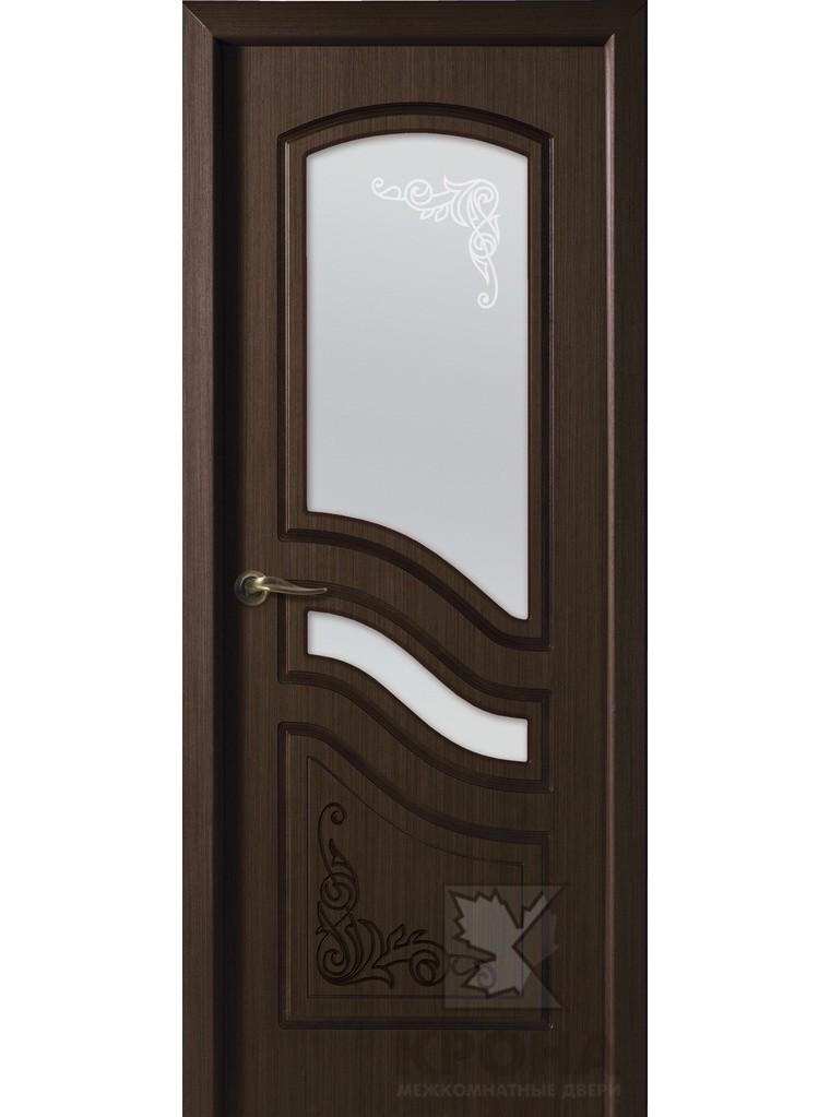 """Дверь шпонированная """"Ривьера"""" орех, остекленная Мариам"""