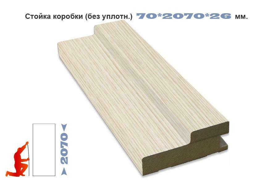 Стойка коробки 70*26*2070 ЭКО-шпон (без уплотнителя), Optima Porte