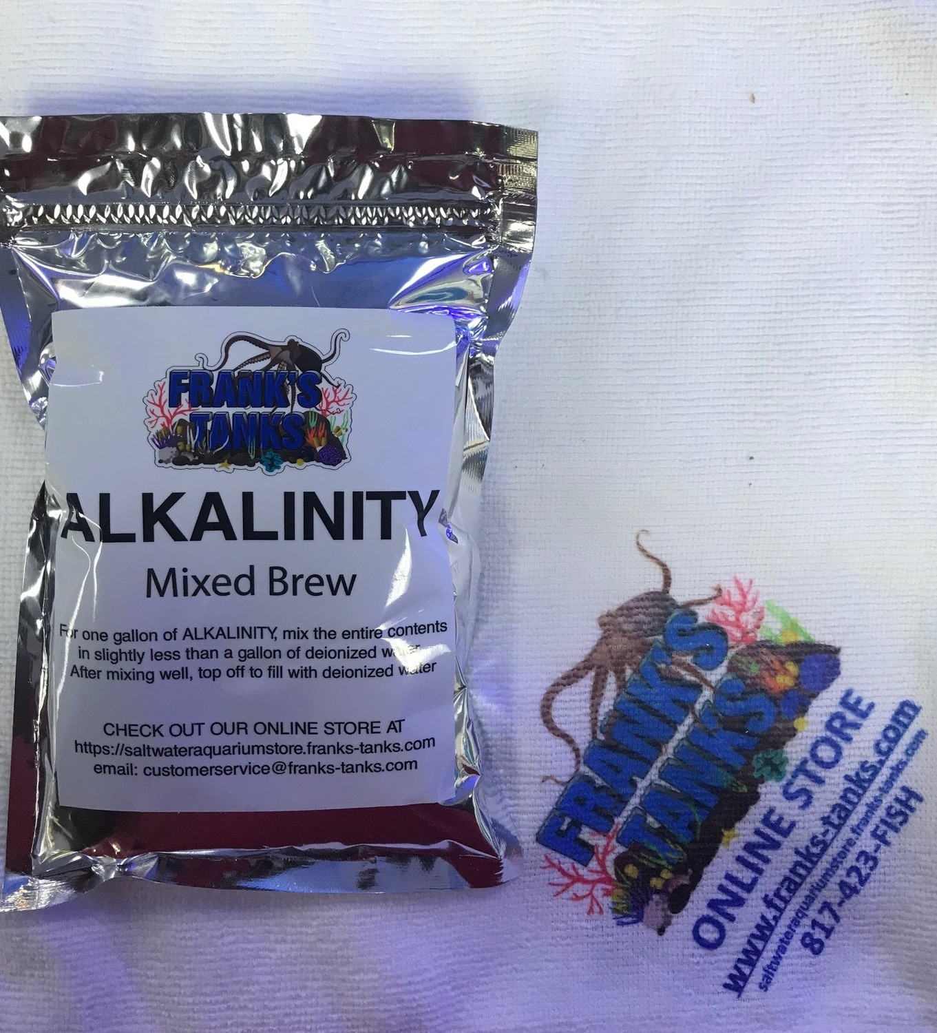 Frank's Tanks 1 gallon mix package of ( Alkalinity ) Mixed Brew