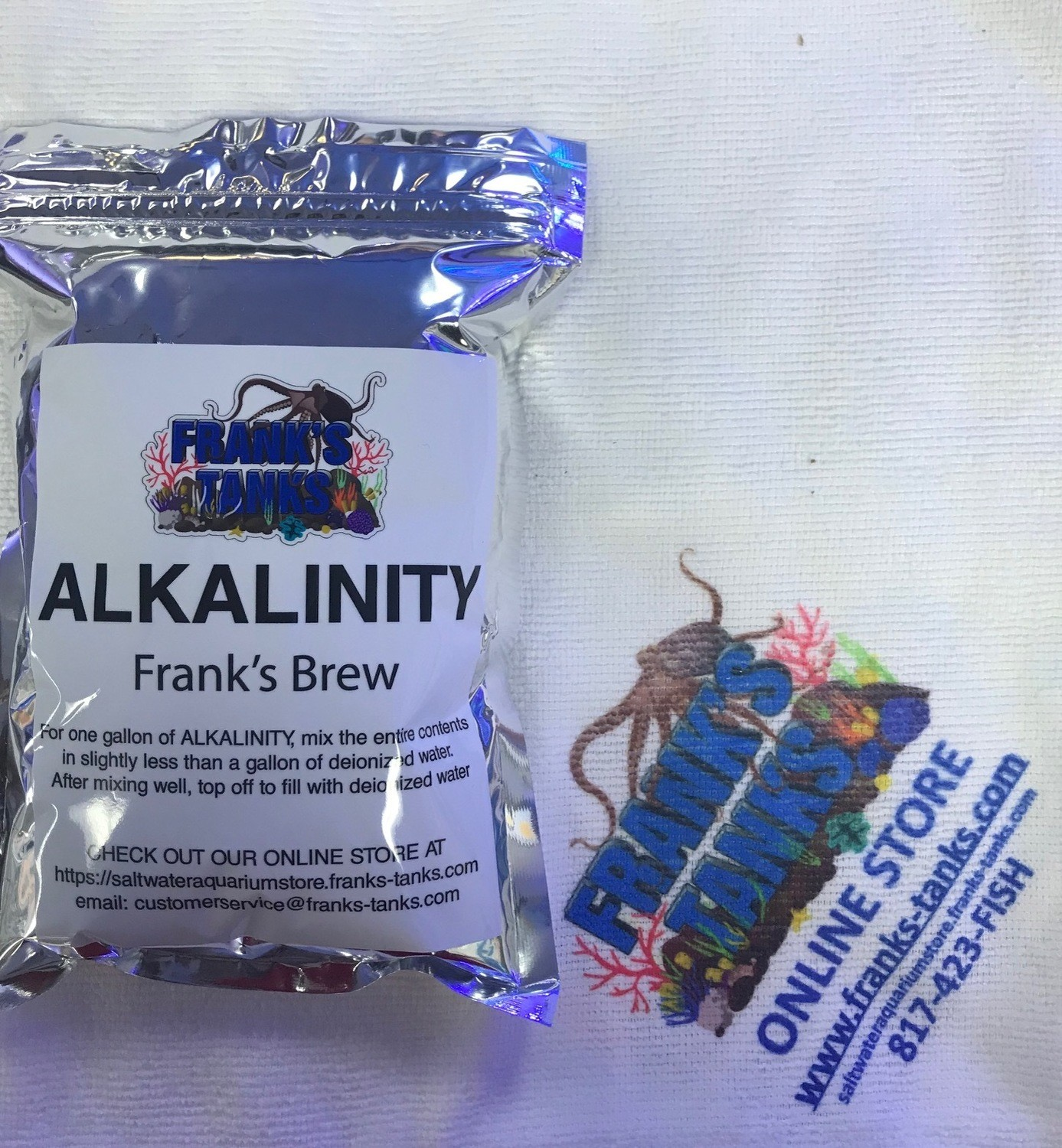 Frank's Tanks 1 gallon Alkalinity mix- Frank's Brew ( Sodium Carbonate )