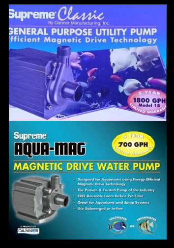 Supreme Aqua-Mag Magnetic Drive Water Pumps