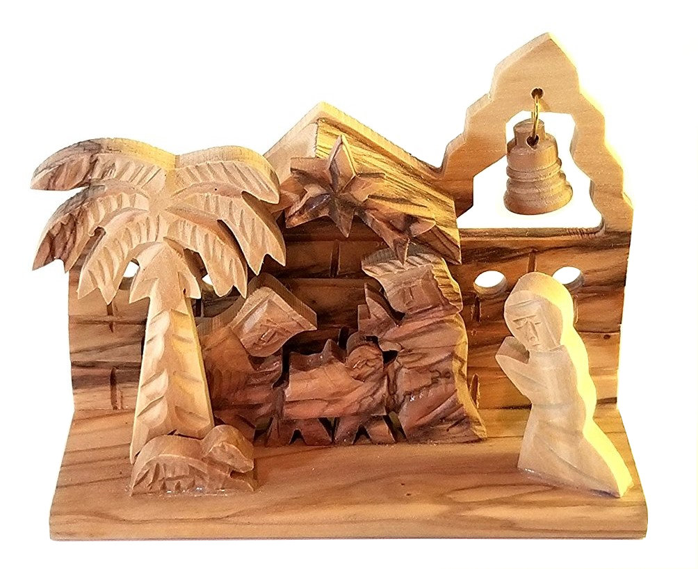 Holy Land Olive Wood Nativity Miniature 00028