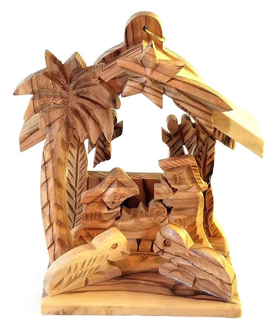 Holy Land Olive Wood Nativity Ornament 00029