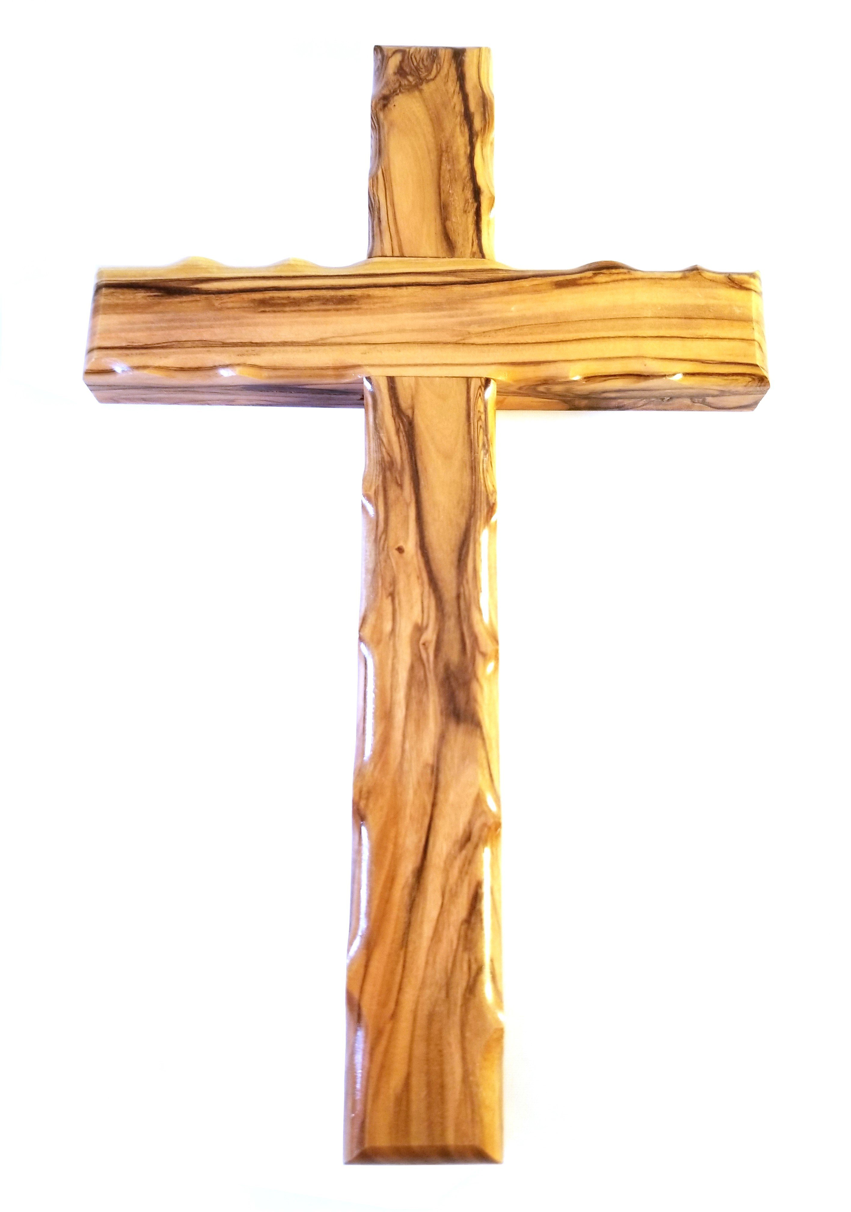 Handcrafted Olive Wood Cross from Bethlehem - Large 00034