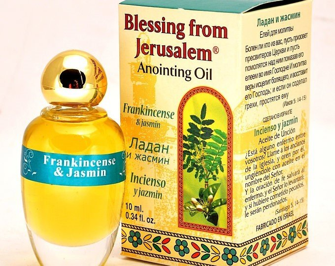 (Frankincense and Jasmin) Biblically Inspired Jerusalem Anointing oil - 10 ml. 00035