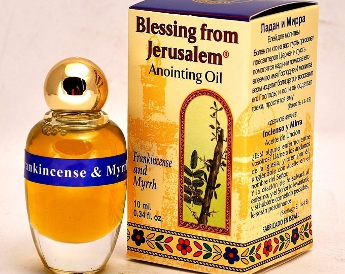 (Frankincense and Myrrh) Biblically Inspired Jerusalem Anointing oil - 10 ml. 00038