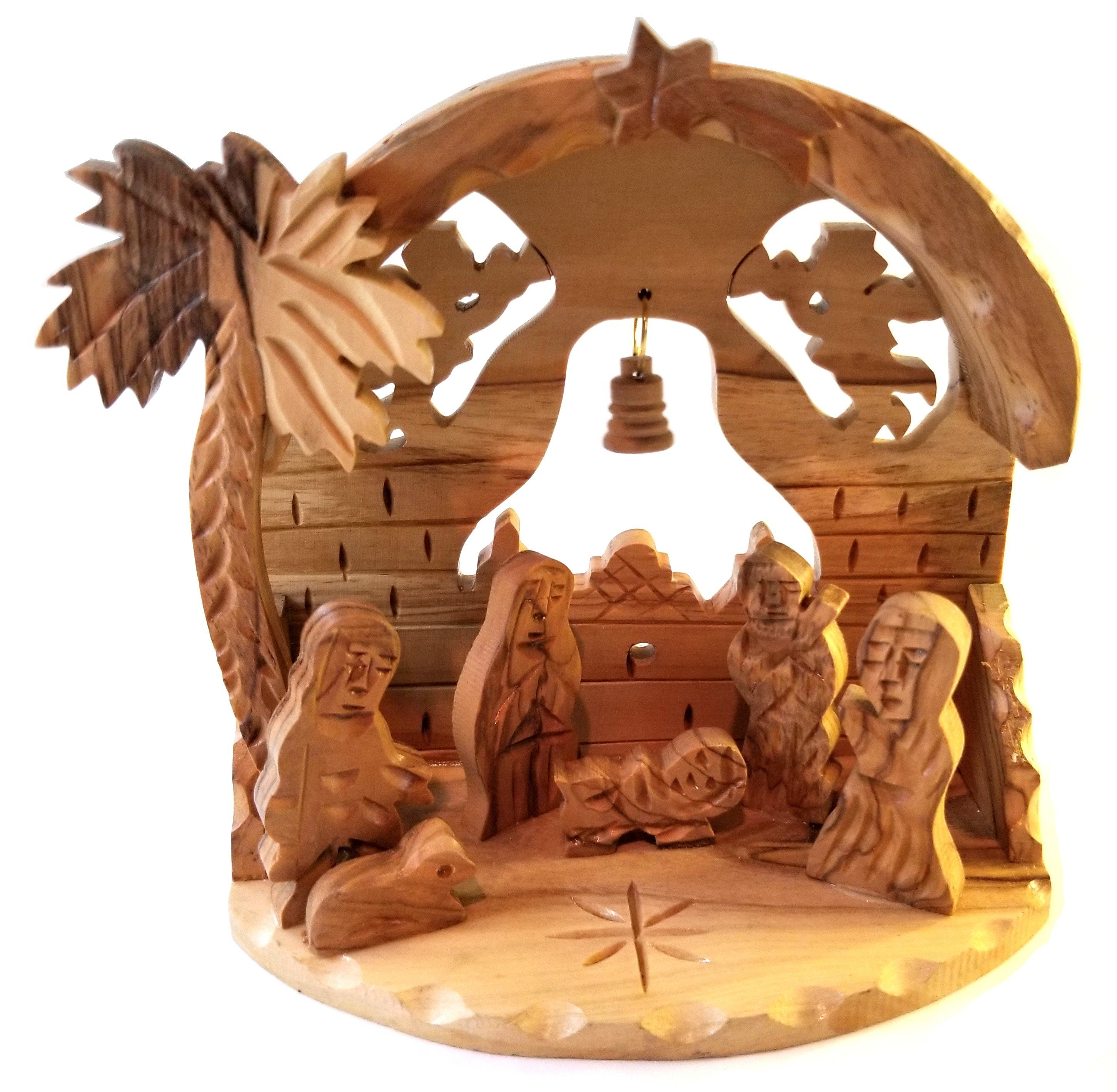Holy Land Olive Wood Nativity 00053