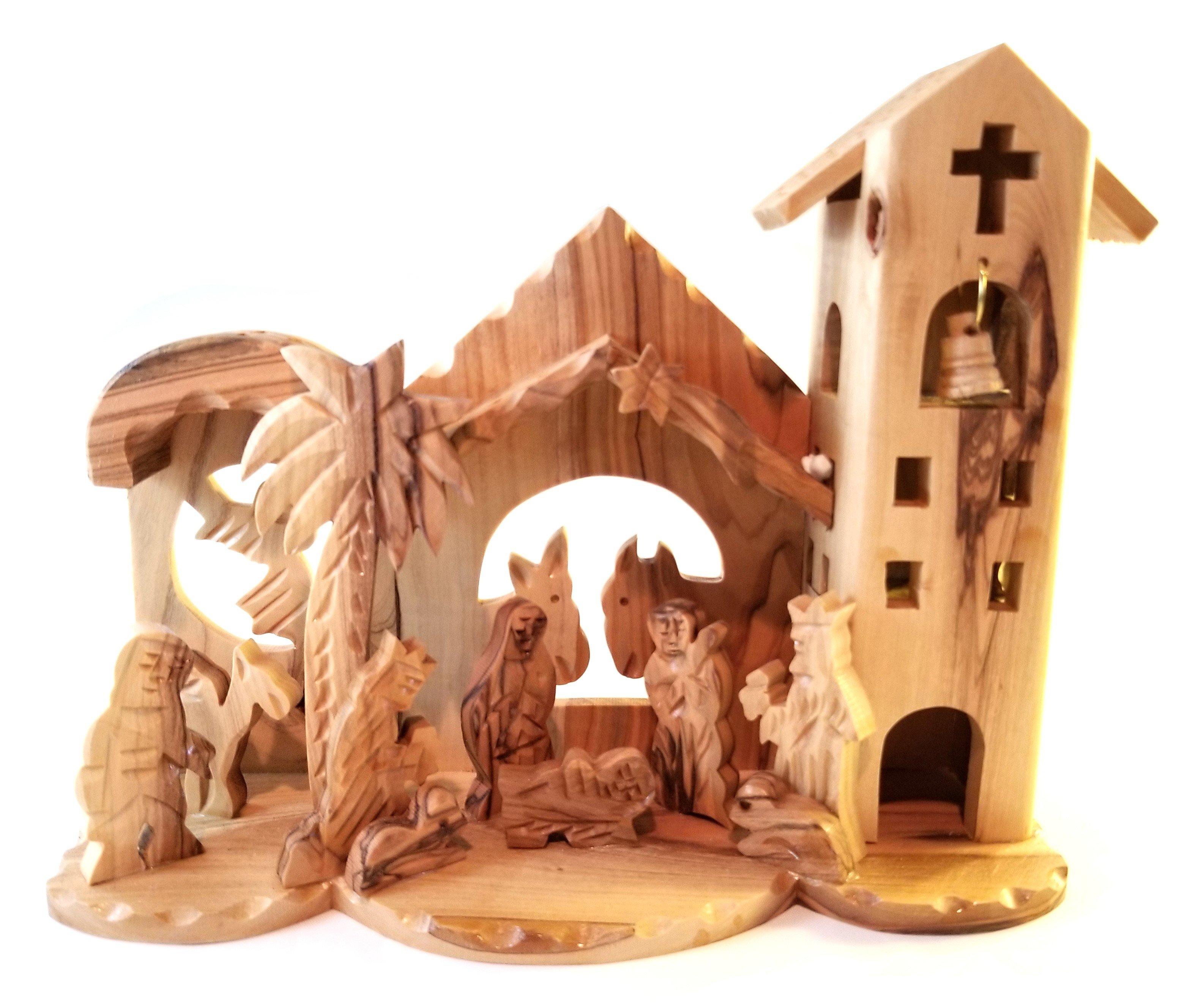 Holy Land Olive Wood Nativity 00054