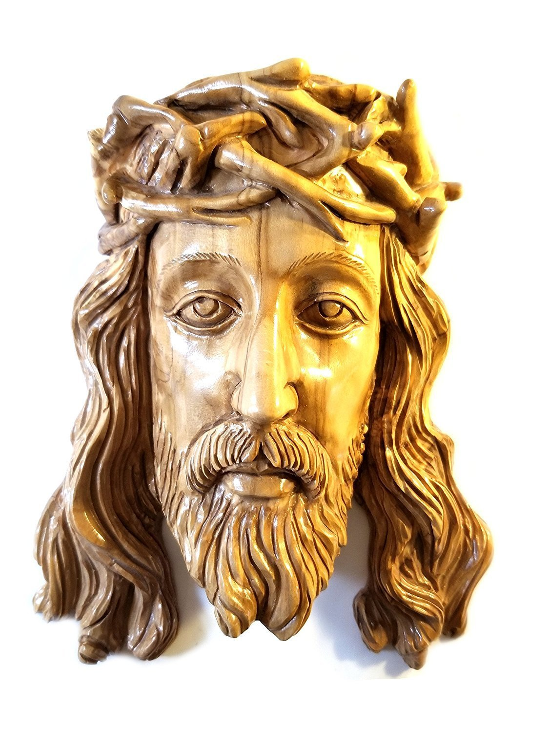 Carved Olive wood Jesus Wall Plaque from Bethlehem 00058