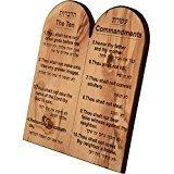 Ten Commandment in English & Hebrew..Small