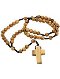 Olive wood rosary 00078