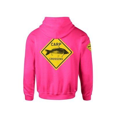Carpcrossing Classic Carp Hoodie Woman Pink
