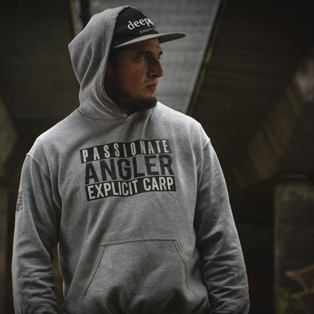 Carpcrossing Explicit Carp Zipped Hoodie Grey