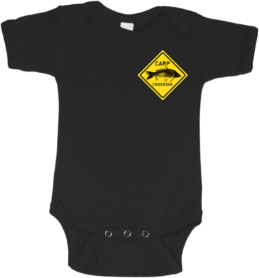 Carpcrossing Baby & Kids Onesie Black