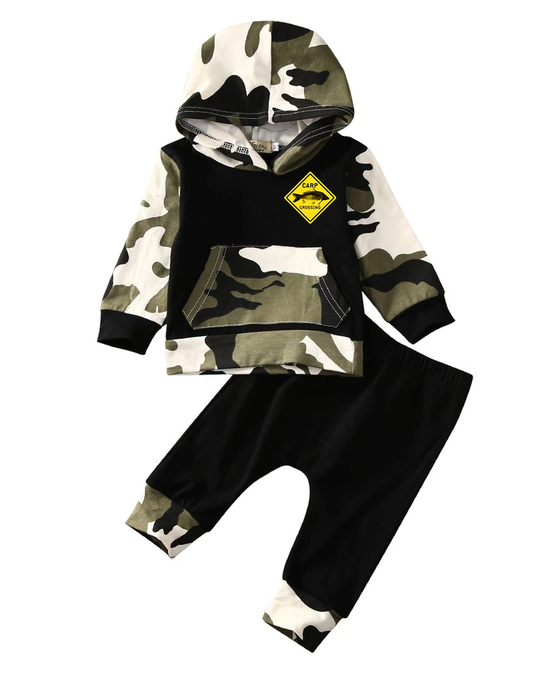 Carpcrossing baby & kids camo jogger and hoodie
