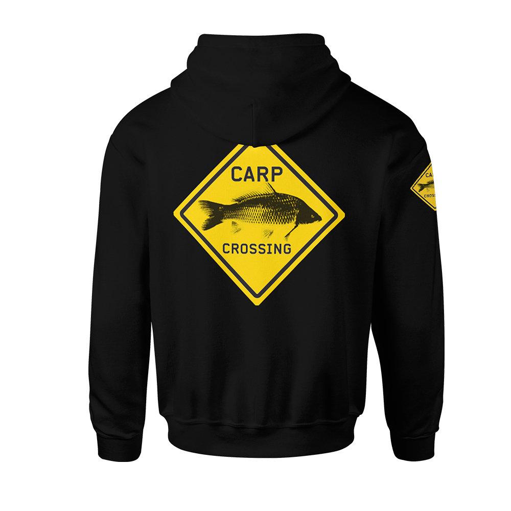 Carpcrossing Classic Carp Zipped Hoodie Black