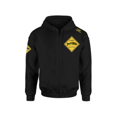 Carpcrossing Classic Carp Zipped Hoodie Black