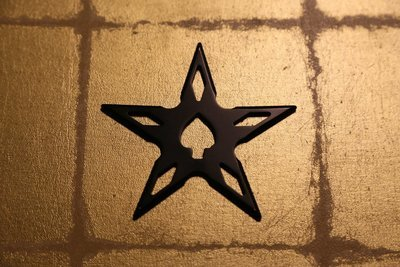 Large shuriken (Ninja star) : star/black 大型手裏剣 星型/黒