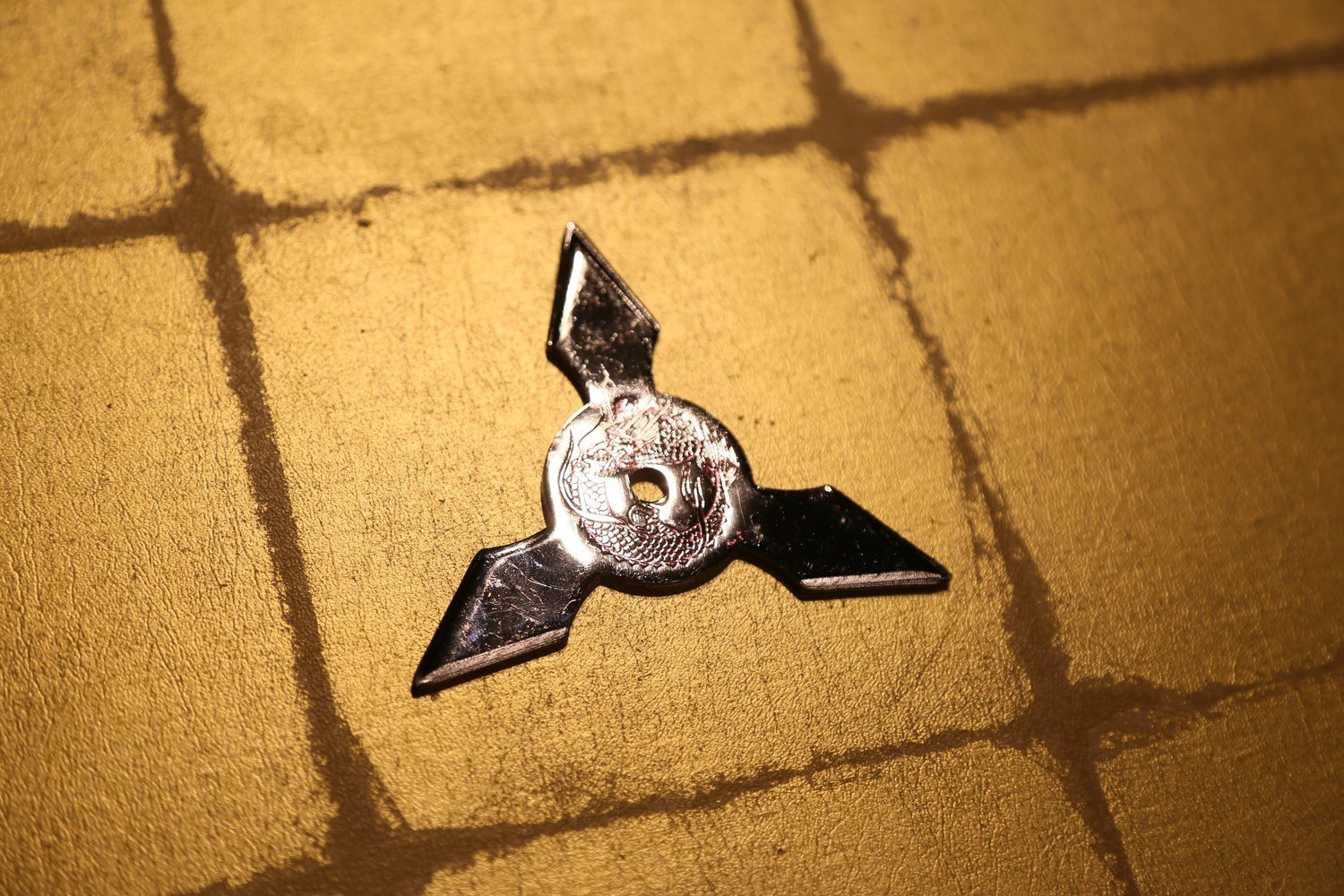 Chrome plating Shuriken (Ninja star):Three points クロームメッキ手裏剣 三方