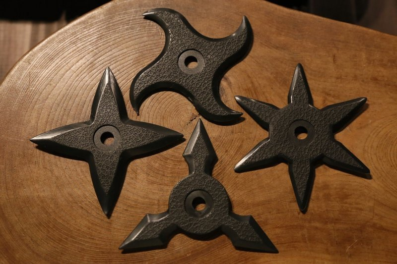 Rubber Shuriken (Ninja star) :4type set ゴム手裏剣 4種set