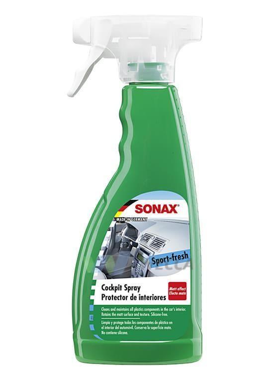 Очиститель-полироль для пластика с матовым эффектом SONAX (500мл) Активная свежесть